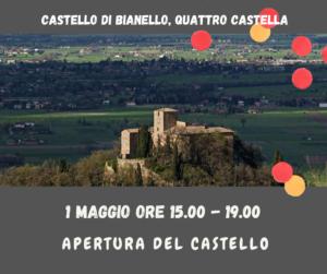 Apertura castello di Bianello