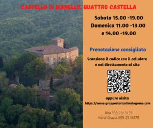 Maggio e giugno al castello di Bianello